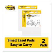 Post-it Easel Pads Super Sticky Self Stick Easel Pads, 15 x 18, White, 20 Sheets/Pad, 2 Pads/Pack (24401193)