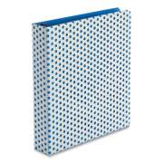 "Oxford Punch Pop Fashion Binder, 3 Rings, 1.5"" Capacity, 11 x 8.5, White/Blue Polka Dot Design (24412313)"