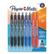Paper Mate Profile Retractable Gel Pen, Medium 0.7 mm, Assorted Ink/Barrel, 8/Set (24428134)