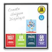 Quartet Enclosed Outdoor Magnetic Whiteboard, 38 x 39, White Surface, Silver Frame (1157269)
