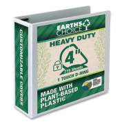 "Samsill Earth's Choice Heavy-Duty Biobased One-Touch Locking D-Ring View Binder, 3 Rings, 4"" Capacity, 11 x 8.5, White (24452255)"