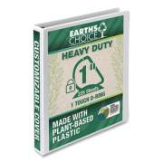 "Samsill Earth's Choice Heavy-Duty Biobased One-Touch Locking D-Ring View Binder, 3 Rings, 1"" Capacity, 11 x 8.5, White (24452261)"