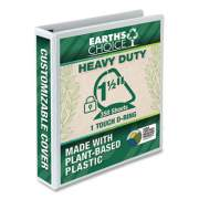 """Samsill Earth's Choice Heavy-Duty Biobased One-Touch Locking D-Ring View Binder, 3 Rings, 1.5"""" Capacity, 11 x 8.5, White (24452265)"""