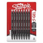Sharpie Retractable Gel Pen, Medium 0.7 mm, Black Ink/Barrel, 8/Pack (24424406)