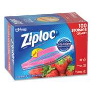 "Ziploc Seal Top Bags, 1 qt, 7.44"" x 7"", Clear, 100/Box (24442307)"