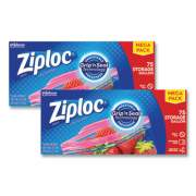 "Ziploc Seal Top Bags, 1 gal, 10.75"" x 10.56, Clear, 75/Pack, 2 Packs/Box (24442308)"