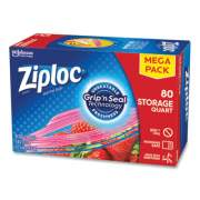 "Ziploc Seal Top Bags, 1 qt, 7.44"" x 7"", Clear, 80/Box (24442309)"