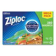 "Ziploc Sandwich Seal Top Bags, 6.5"" x 5.88"", Clear, 280/Box (24442311)"