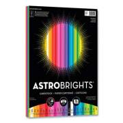 Astrobrights Color Cardstock, 65 lb, 8.5 x 11, Assorted Spectrum Colors, 75/Pack (24447812)