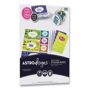 Astrobrights Astrodesigns Sticker Paper Labels, Inkjet/Laser Printers, 8.5 x 11, White, 15/Pack (24447822)