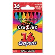 Cra-Z-Art Crayons, 16 Assorted Colors, 16/Set (10200WM40)