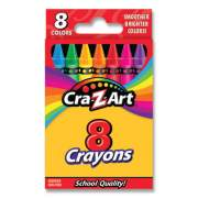 Cra-Z-Art Crayons, 8 Assorted Colors, 8/Pack (1021248)