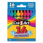 Cra-Z-Art Washable Jumbo Crayons, 16 Assorted Colors, 16/Pack (1020448)