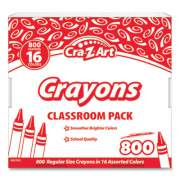 Cra-Z-Art Crayons, 16 Assorted Colors, 800/Pack (74004)