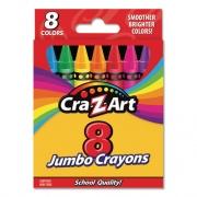 Cra-Z-Art Jumbo Crayons, 8 Assorted Colors, 8/Pack (10203WM48)