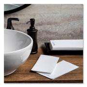 Hoffmaster Bio-Shield Linen-Like Guest Towels, 12 x 17, White, 500/Carton (253261)