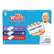 "Mr. Clean Magic Eraser Variety Pack, 4.6"" x 2.3"", Extra Durable; Bath; Kitchen, White, 6/Pack (69523PK)"