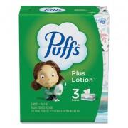 Puffs Plus Lotion Facial Tissue, White, 2-Ply, 124/Box, 3 Box/Pack (39363PK)