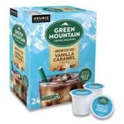 Green Mountain Coffee Roasters Roasters Roasters Vanilla Caramel Brew Over Ice Coffee K-Cups, 24/Box (9028)