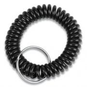 Wrist Key Coil Key Organizers, Black, 12/Pack (565121)