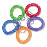 Wrist Key Coil Key Organizers, Blue; Green; Orange; Purple; Red, 10/Pack (565104)
