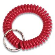 Wrist Key Coil Key Organizers, Red, 12/Pack (565123)