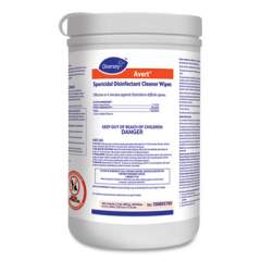 Diversey Avert Sporicidal Disinfectant Cleaner Wipes, Chlorine, 6 x 7, 160/Can, 12/Carton (100895790)