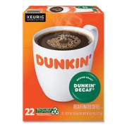 Dunkin Donuts K-Cup Pods, Dunkin' Decaf, 22/Box (1269)