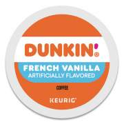 Dunkin Donuts K-Cup Pods, French Vanilla, 22/Box (1268)