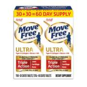 Move Free Ultra Triple Action with UCII Twin Pack, 60 Tablets (95603)