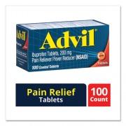 Advil IBUPROFEN IBUPROFEN PAIN RELIEVER TABLETS, 100/BOX (1535908)