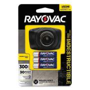 Rayovac VIRTUALLY INDESTRUCTIBLE LED HEADLIGHT, 3 AAA BATTERIES (INCLUDED), 136 M PROJECTION, BLACK (2667680)