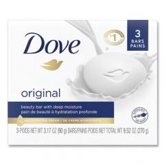 Dove White Beauty Bar, Light Scent, 3.17 oz, 3/Pack (04090PK)