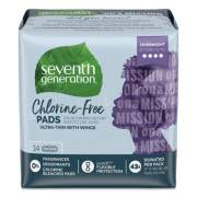 Seventh Generation Chlorine-Free Ultra Thin Pads with Wings, Overnight, 14/Pack, 12 Packs/Carton (45003)