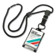 AbilityOne 8455016926543 SKILCRAFT RFID Dual Card Holder, Vertical, 2.13 x 2.38, Black, Dozen