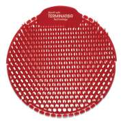 Fresh Products Slant7 with Terminator Urinal Screen, Evergreen, Red, 30/Carton (S7TCT)