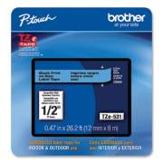 """Brother TZe Laminated Removable Label Tapes, 0.47"""" x 26.2 ft, Black on Blue (TZE531CS)"""