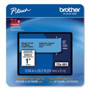 """Brother TZe Laminated Removable Label Tapes, 0.94"""" x 26.2 ft, Black on Blue (TZE551CS)"""