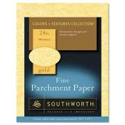 Southworth Parchment Specialty Paper, 24 lb, 8.5 x 11, Gold, 100/Pack (P994CK/3/36)
