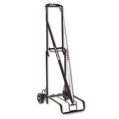 STEBCO Luggage Cart, 125 lb Capacity, 13 x 10 Platform, Black Steel (390002BLK)