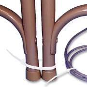 Tatco Nylon Cable Ties, 4 x 0.06, 18 lb, Natural, 1,000/Pack (22100)