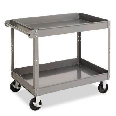 Tennsco Two-Shelf Metal Cart, 24w x 36d x 32h, Gray (SC-2436)