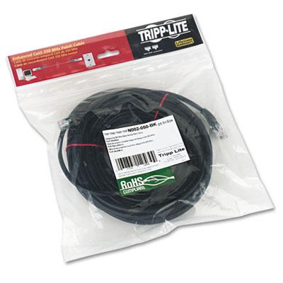 Tripp Lite Cat5e 350MHz Molded Patch Cable, RJ45 (M/M), 50 ft., Black (N002-050-BK)