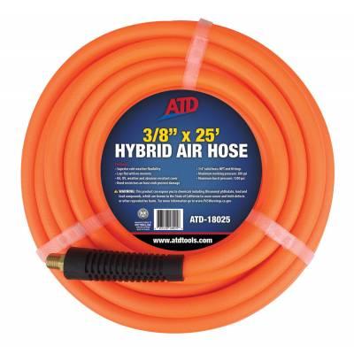 "ATD Tools 3/8""x 25ft Hybrid Air Hose (18025)"