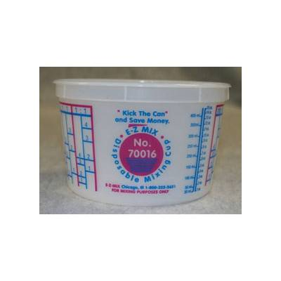 E-Z Mix Disposable Mixing Cups 1 Pint 70016 Qty of 100 Cups