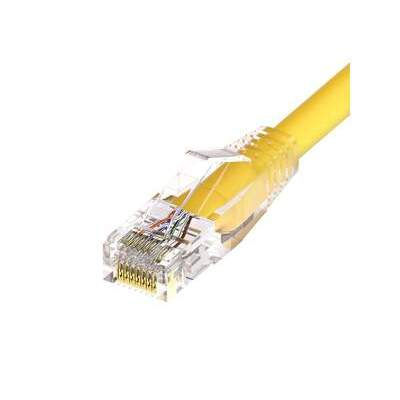 Unirise 25ft Yellow Cat6 Clearfit Patch Cable (10138)