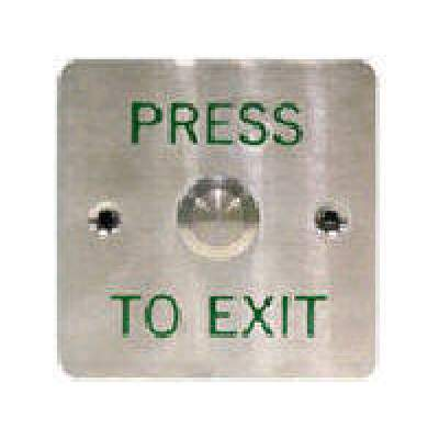 Geovision Pb22 Push Button (w:86mm Green Word) (81-PB220-001)