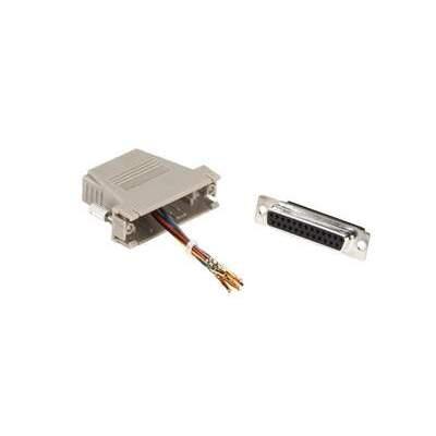 Black Box Modular Adapter Kit Rj45(8 Wire)- Db25 F (FA4525F-GY)