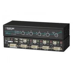 Black Box Kvm Swt Sh Dvii Usb Hid 3-usb2 Ad Dt 4pt (KV9604A)