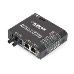 Black Box Hrd Swt 2-10/100 Rj45 1-100 St 12v Dc (LBH100A-H-ST-12)